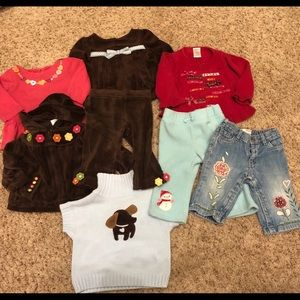 Lot of 8 Gymboree gap 6-12 girls tops bottoms